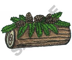 YULETIDE LOG embroidery design