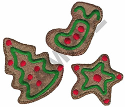 CHRISTMAS COOKIES embroidery design