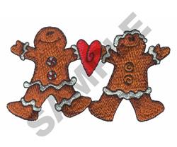 GINGERBREAD MEN embroidery design