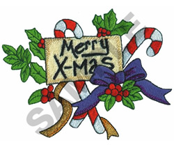 MERRY  X-MAS embroidery design