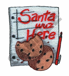 SANTA WUZ HERE embroidery design