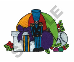 TOYSOILDER WITH GIFTS embroidery design