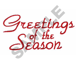 GREETINGS OF THE SEASON embroidery design