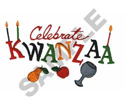 CELEBRATE KWANZAA embroidery design