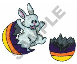 BUNNY IN EASTER EGG embroidery design