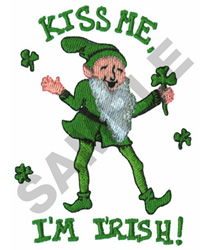 KISS ME IM IRISH! embroidery design