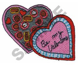 BE MY VALENTINE CHOCOLATES embroidery design