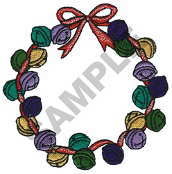 BELL WREATH embroidery design