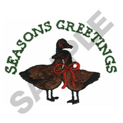 SEASONS GREETINGS embroidery design