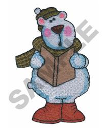 POLAR BEAR SINGING embroidery design
