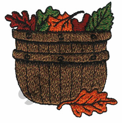 FALL BASKET embroidery design