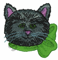 BLACK CAT embroidery design