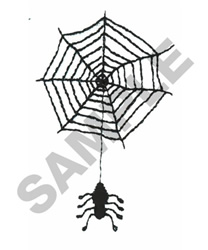 SPIDER HANGING FROM WEB embroidery design