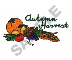 AUTUMN HARVEST embroidery design