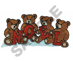 NOEL BEARS embroidery design
