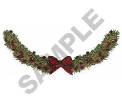 CHRISTMAS GARLAND embroidery design