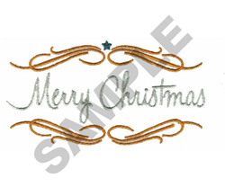 MERRY CHRISTMAS embroidery design