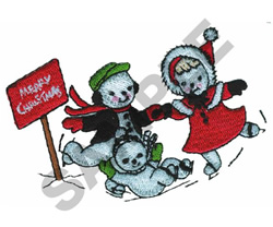 SNOW FAMILY embroidery design