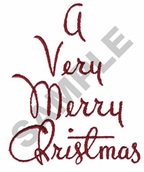 A VERY MERRY CHRISTMAS embroidery design