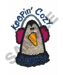 KEEPIN COZY embroidery design