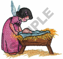 ANGEL AND MANGER embroidery design