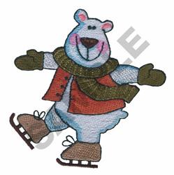 POLAR BEAR SKATING embroidery design