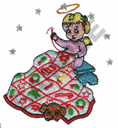 ANGEL STITCHING QUILT embroidery design