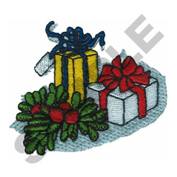 PRESENTS embroidery design