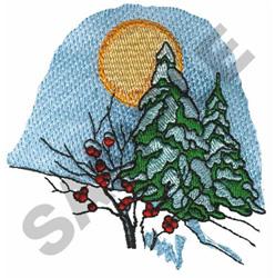 WINTER SCENE embroidery design