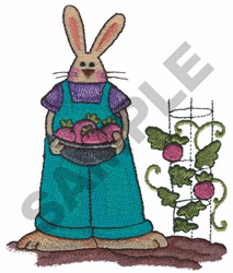 BUNNY IN GARDEN embroidery design