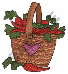 BASKET OF CARROTS embroidery design