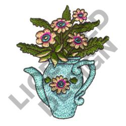FLOWERS IN PITCHER embroidery design