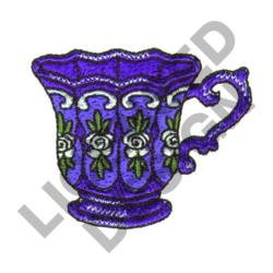 FANCY TEACUP embroidery design