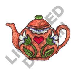 DECORATIVE TEAPOT embroidery design