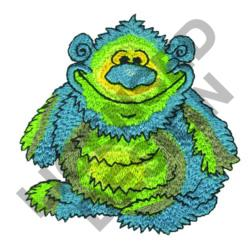 HAIRY MONSTER embroidery design