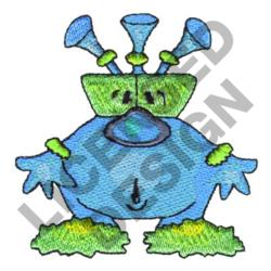 CRAZY BLUE MONSTER embroidery design