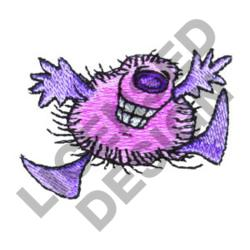 HAPPY HAIRY MONSTER embroidery design