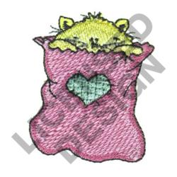 CAT IN SACK embroidery design