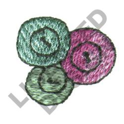 THREE BUTTONS embroidery design