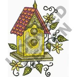 BIRDHOUSE embroidery design
