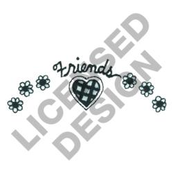 HEARTS & FLOWERS FRIENDS embroidery design
