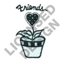 FRIENDS POTTED PLANT embroidery design
