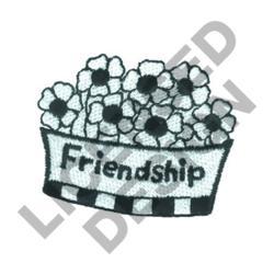 FRIENDSHIP FLORAL POT embroidery design
