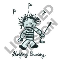 GOLFING BUDDY embroidery design