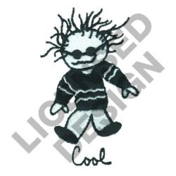 COOL KID WITH SUNGLASSES embroidery design