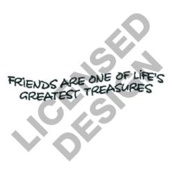 FRIENDS ARE TREASURES embroidery design