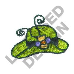 HAT WITH FLOWER embroidery design