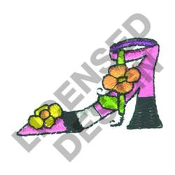 SHOE WITH FLOWERS embroidery design