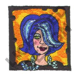 LARKSPUR WOMAN embroidery design