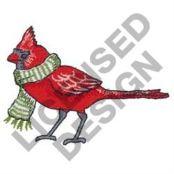 CARDINAL WITH SCARF embroidery design